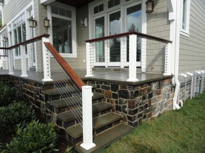 New Staircase And Porch Area On Outside Of House