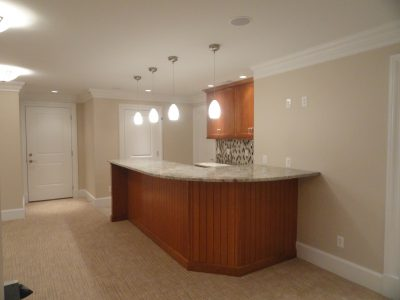 Finished Basement With Bar Area
